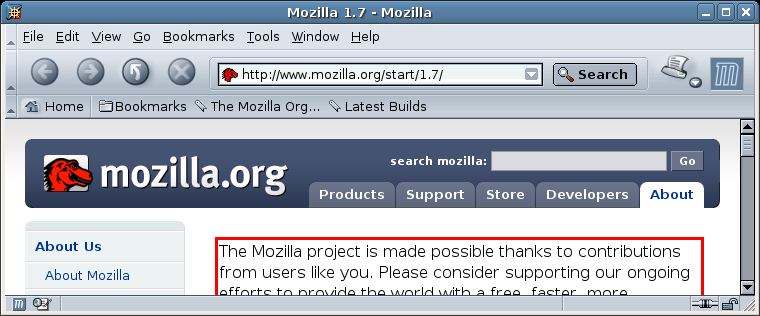 Mozilla screenshot